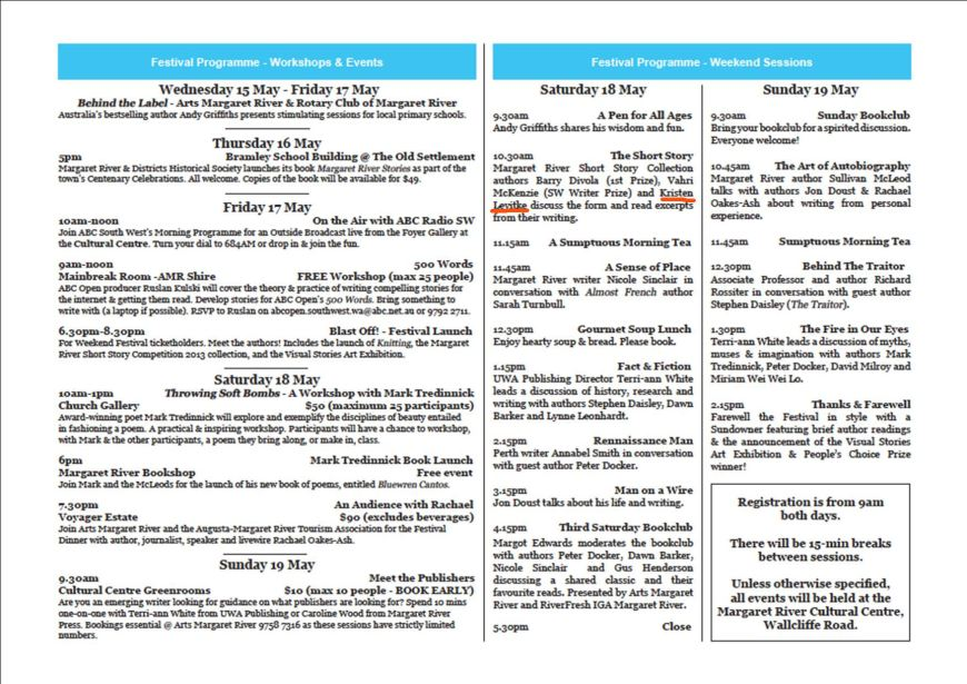 programme for Marg River fest